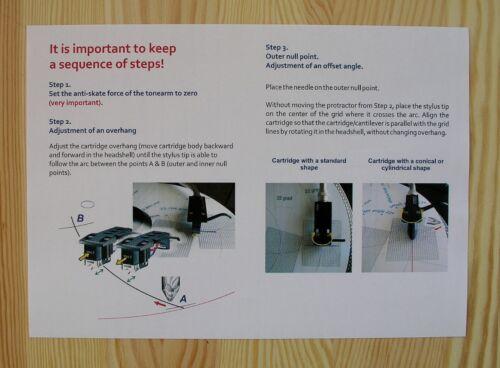 SME Series IV /& SME Series V Custom Designed Tonearm Alignment Protractor