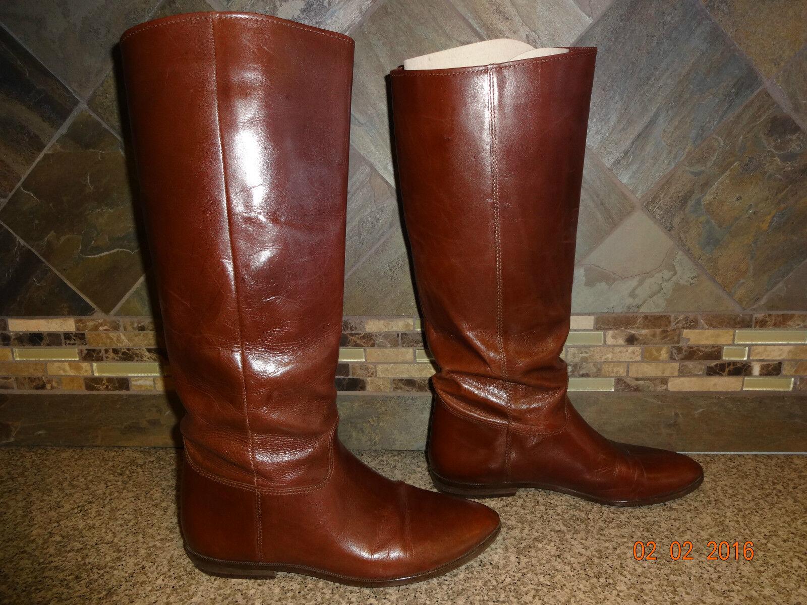 Chaussures femme Nine West  Laureen  SZ 7.5 en Cuir marron bottes Hautes