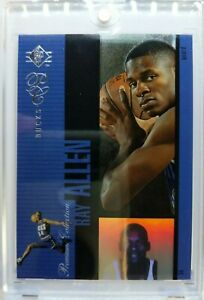 Rare-1996-96-SP-Premium-Collection-Ray-Allen-Rookie-RC-PC21-Holoview-Insert