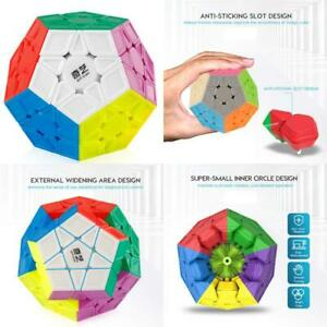 Coogam Qiyi Megaminx Cube Sculpted Stickerless Pentagonal Dodecahedron Speed Cube Puzzle Toy Qiheng S Version