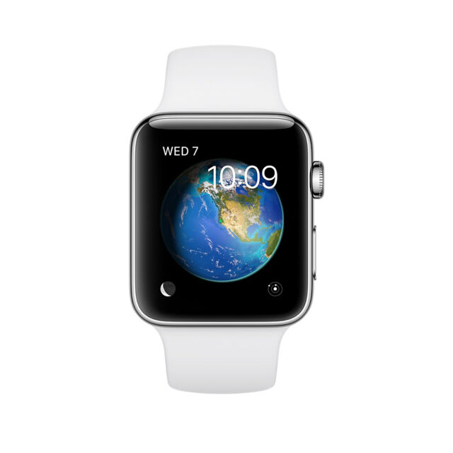 Apple Watch Series 2 42mm Stainless Steel Case White Sport Band Mnpr2ll A For Sale Online Ebay