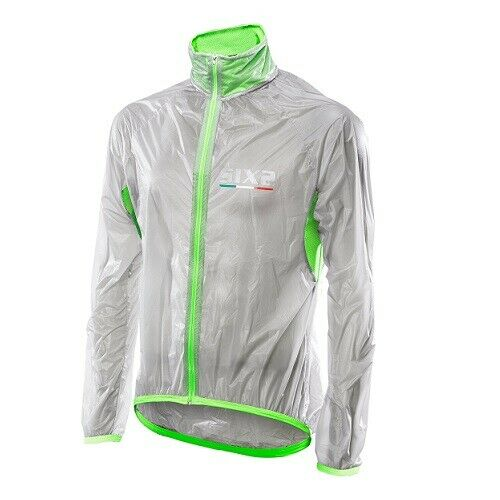 Cape wasserdicht Fahrrad Radsport SIXS grün fluoreszierend Italien GHOST Jacke