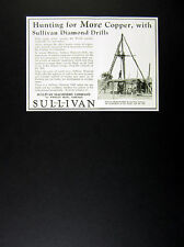 1929 Copper Prospecting in Africa photo Sullivan Diamond Drills vintage print Ad