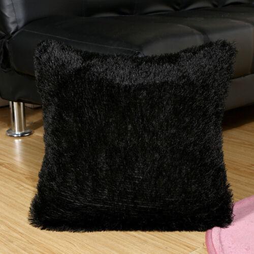 "18/"" Home Decor Soild Plush Pillow Case Soft Bedroom Throw Waist Cushion Cover"
