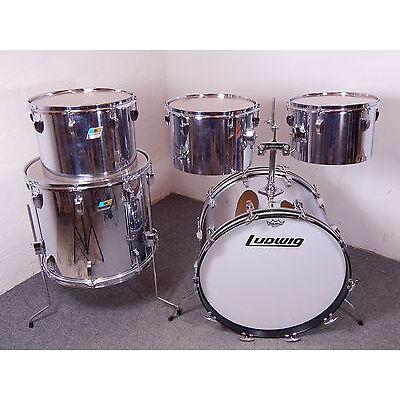 Ludwig USA 1970s COW Drumset Schlagzeug Blue/Olive Vintage  22,12,13,14,18