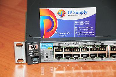 HP ProCurve J9089A 2610-48-PWR 48 Port PoE Switch w// Rach Mounts 6MthWty TaxInv
