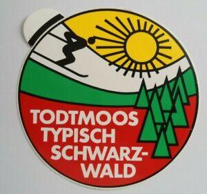 Reise-Aufkleber Todtmoos Typical Schwarzwald Waldshut Freiburg Baden-Württemberg