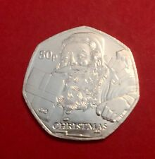 2011 Isle of Man Christmas 50p Fifty Pence Coin  Santa Claus UNC