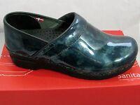 Sanita Womens Professional Ariana Clogs In Petrole Patent 459566 Size 39 8.5us