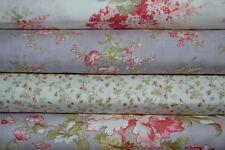 lot de 4 coupons de tissu patchwork MODA Shabby Glycine et Blanc  24x55cm