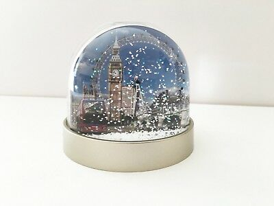 London snow globe, shaker, Big Ben, London Eye, Westminster Bridge, Red Bus