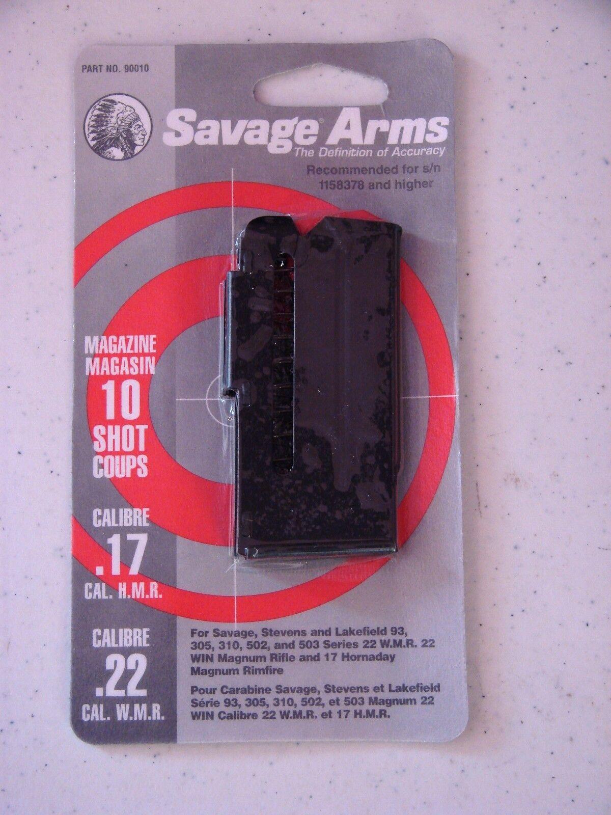 Savage Arms Magazine For 93//305//310//502//503 Series-22WMR//17HMR-10 Round-90010