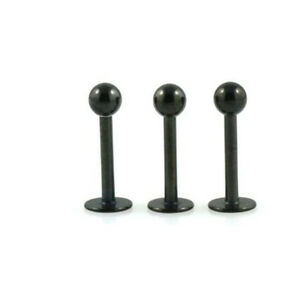 3-Black-Line-Labret-Lip-Monroe-Bars-16g-6mm-Ball-3mm