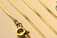 Wholesale 5 Pcs Genuine Gold Over Sterling Silver Snake Chain Necklace Lot