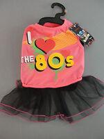 Bret Michaels Pets Glam Metal Rock Brand Dog Apparel Neon Colors 80's Dress Nip