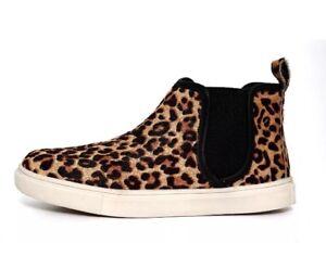 842aa0347a1 Steve Madden  Elvinn  Genuine Calf Hair Leopard High Top Sneaker ...