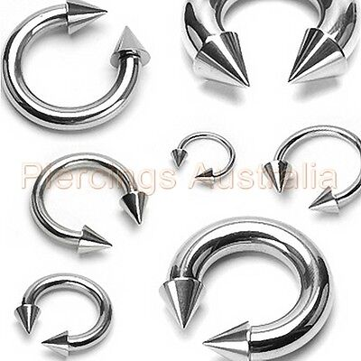 316L Surgical Steel Ball Horse Shoe Bar Ring Body Piercing CHOOSE SINGLE OR PAIR