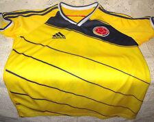 Adidas Yellow Childs Soccer/Federacion Colombiana de Futbol Players Shirt Size12