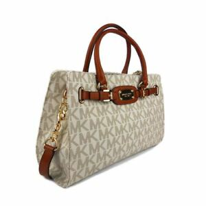 275a95844c58dc Michael Kors Hamilton 35F0GHMT3B Vanilla LG EW Tote Handbags for ...