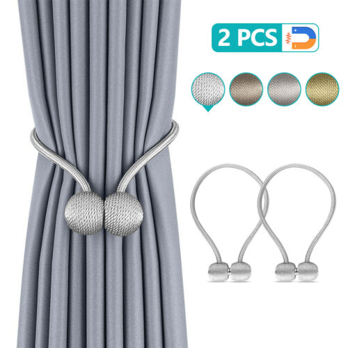 Lot Strong Magnetic Ball Curtain Tiebacks Tie Backs Buckle Clips Hold backs Home