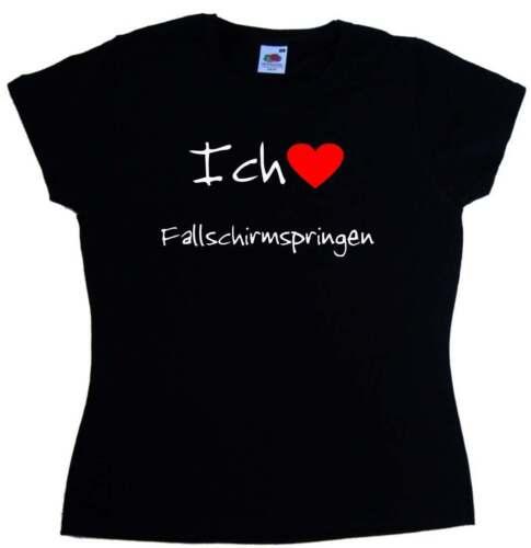 Ich Liebe Fallschirmspringen Damen T-Shirt