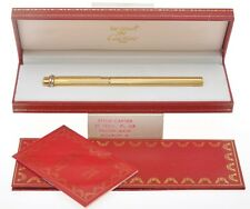 Cartier Vendome penna sfera gold ballpoint pen new old stock in box