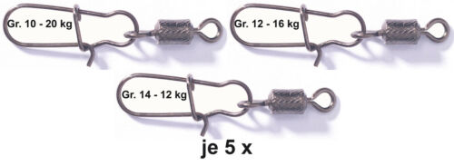 Balzer Spezialwirbel Sicherheitswirbel Wirbel Gr 10 12 14 je 5x Set NEU