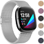 Fitbit Versa 3 Sense Fitness Tracker Band Breathable Sport Stainless Steel Strap