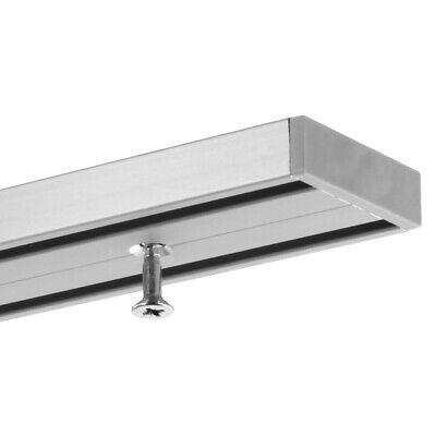 Gardineum Vorhangschiene 2 Lfg Aluminium Objekt Vorgebohrt Eloxierte Oberflache Ebay