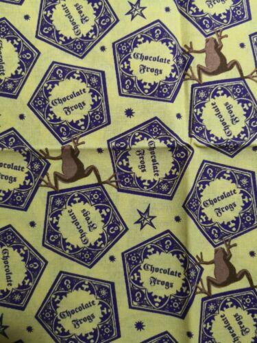 HARRY POTTER HONEYDUKES CHOCOLATE FROGS FAT QUARTER 100/% COTTON BRAND NEW