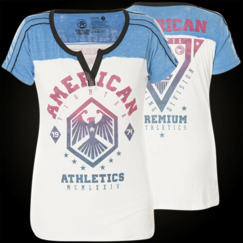BiancoBlu Fighter Earlham de shirt American T donneur Affliction thQCBrdsxo