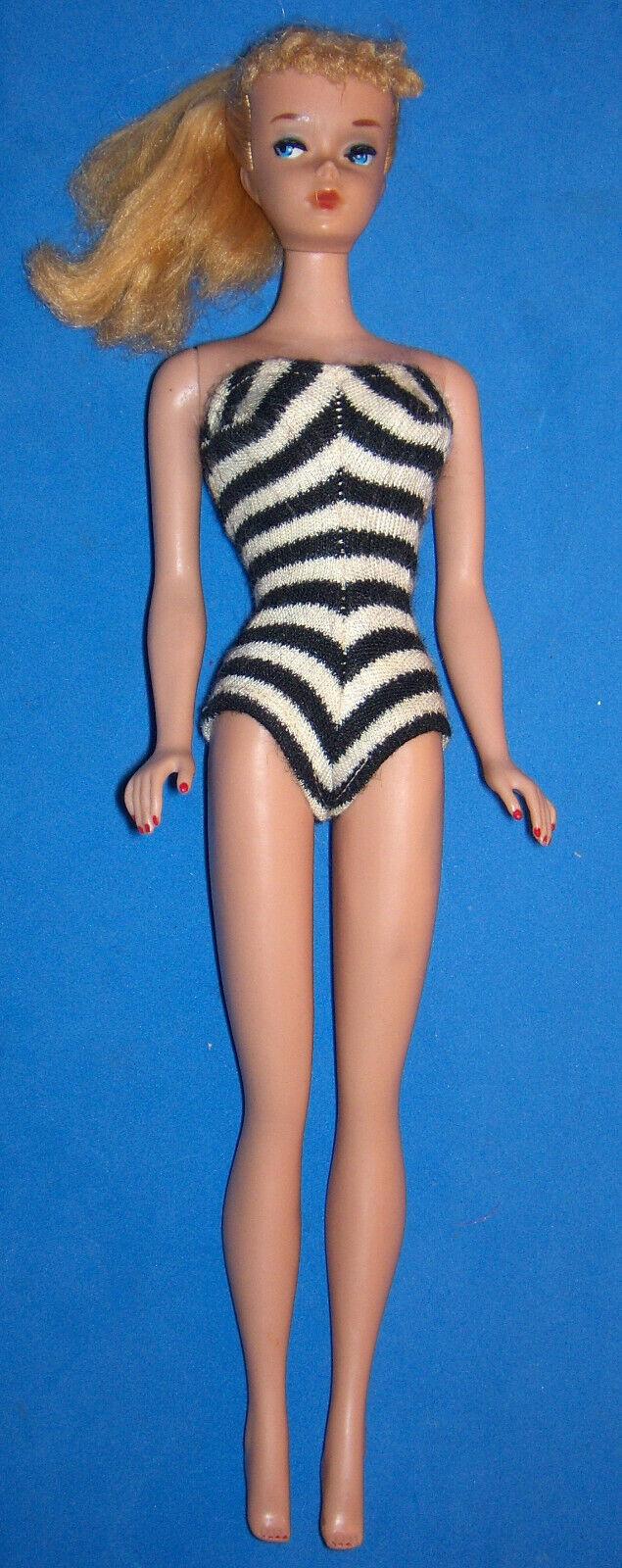 Vintage Rubio Cola de Caballo Barbie Heavy Body TM ™ 1960 OSS Bonito Muñeca
