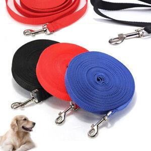 Dog-Leash-Long-Obedience-Recall-Foot-Feet-Training-Lead-10-20-32-50-FT-HOT-USA