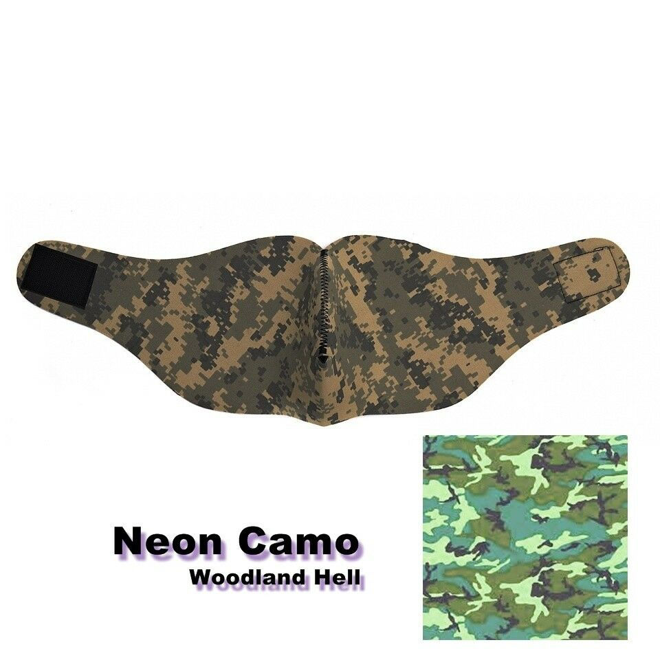 NEON CAMO tache Masque à moitié en néoprène Sniper Airsoft Airsoft Airsoft Paintball Tactical UZI 942e12