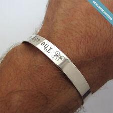 Triathlon Personalized Mens Cuff Bracelet - IronMan Jewelry Gift