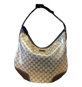 4a83f1c9d91 NEW GUCCI Large Crystal Princy Hobo Bag Handbag w Vintage GRG Web ...