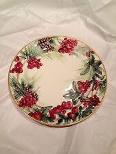 Williams Sonoma Christmas Holiday 2013 Botanical Wreath Dinner Plate