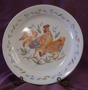 CORELLE ROOSTER AND HEN DESIGN SALAD PLATE | eBay