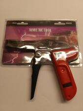 Electra Force 89605 Automotive Wire Cable Tie Tool Gun With 8 Tension Settings