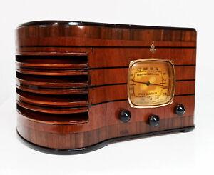 Old Antique Wood Emerson Ingraham Vintage Tube Radio - Restored & Working