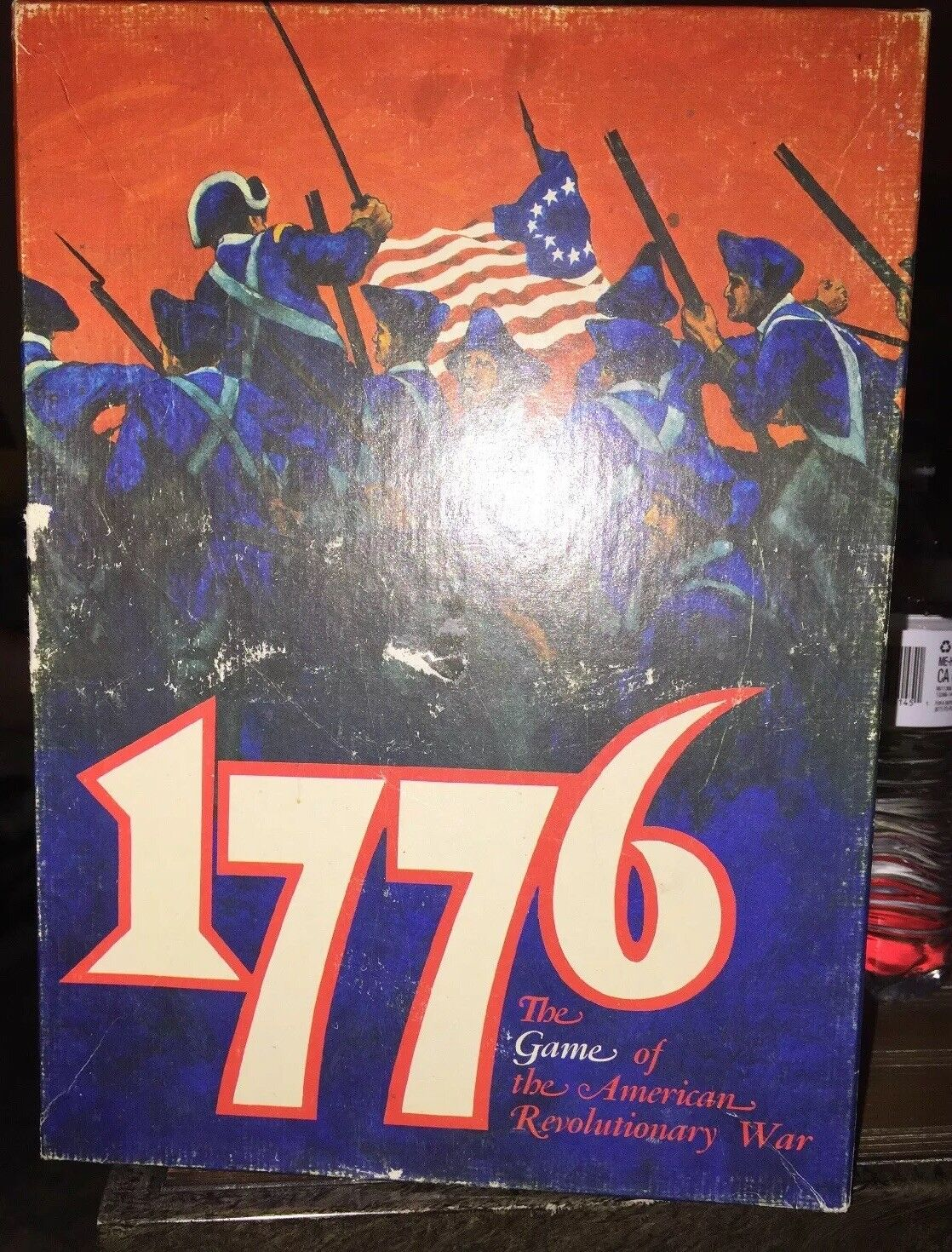 1776 Avalon Hill 1974 Edition Bookcase Rev. War Strategy Game Punched Complete
