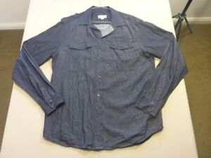 127-MENS-NWOT-DIESEL-DENIM-BLUE-L-S-DRESS-SHIRT-SZE-LRG-200-RRP