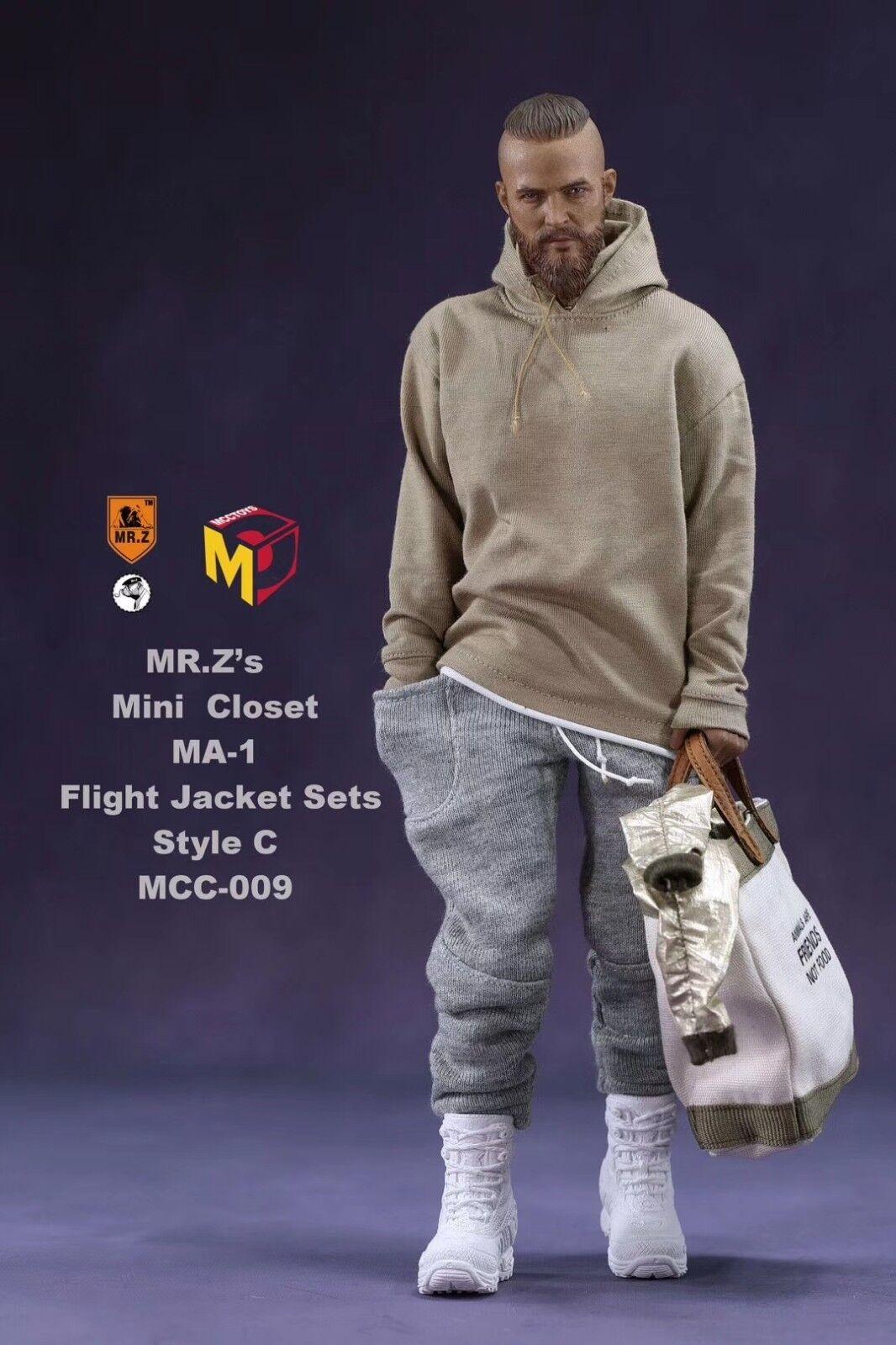 Mcctoys Mr. Z 1 6 Mini Armario conjuntos de chaqueta de vuelo MCC009 sin cuerpo y cabeza