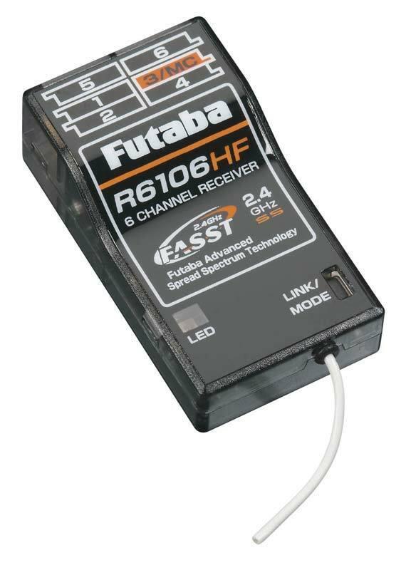 Futaba R6106HF 6 canales 2.4GHz receptor FASST Park Flyer