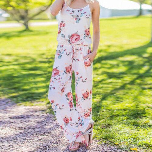 Damen Playsuit Jumpsuit Overall Sommer Hosenanzug Minikleider Strandkleider Neu