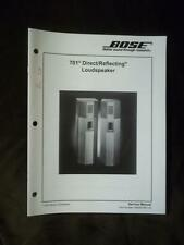 Bose Service Manual for the 701 Direct / Reflecting Speaker System 2000  mp