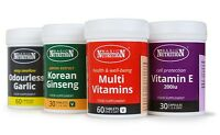 Basic Nutrition Vitamins Supplements Minerals Capsules & Tablets - BIG Selection