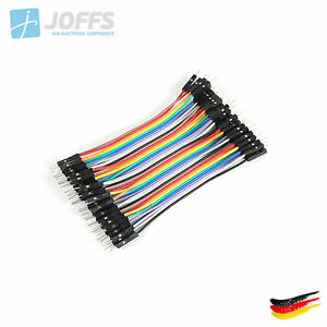 40-x-10cm-MALE-zu-MALE-Jumper-Kabel-Dupont-Cable-Breadboard-Wire