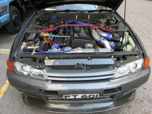 Silicone Engine Breather Hose Fit Nissan Skyline GTR RB26 R32 R33 R34 GTR YELLOW