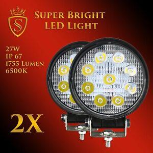 2X 27W LED Arbeitsscheinwerfer Offroad Scheinwerfer 12V 24V für Jeep SUV Bagger